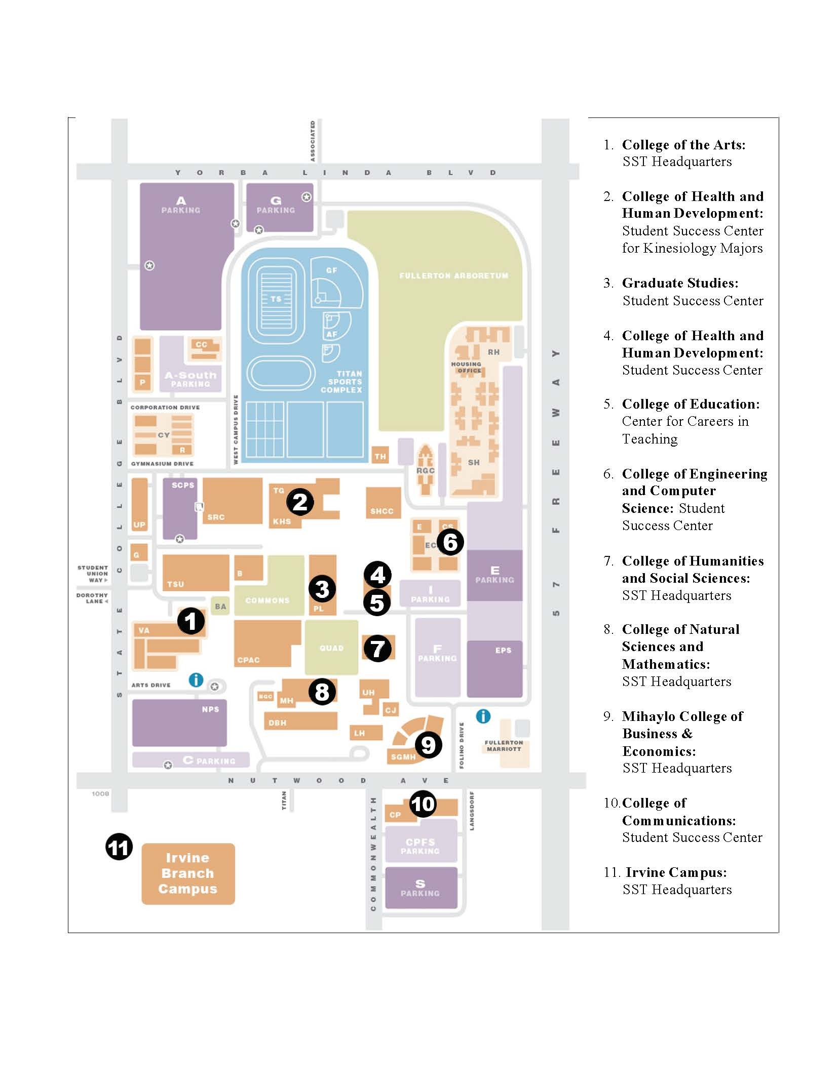 Student Success Center Map